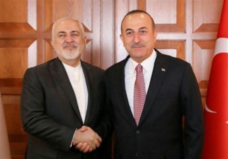 گفتگوی تلفنی ظریف و وزیر امور خارجه ترکیه درباره تحولات منطقه